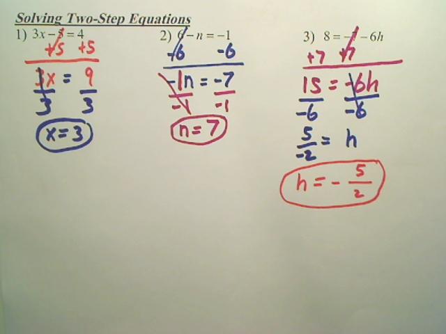 6th grade algebra 2 step equations - Worksheets for Kids, Teachers ...
